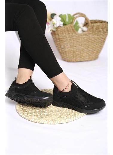 Oksit Jamie Renk Detaylı Fileli Kalın Taban Kadın Sneaker Siyah